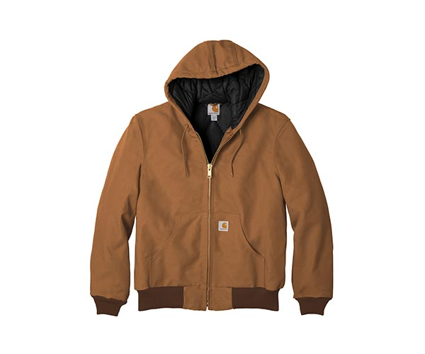 Carhartt ® Quilted-Flannel-Lined Duck Active Jacket